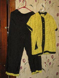 1940s Miss Fashion Vintage Silk Pajamas by Linsvintageboutique, $45.50