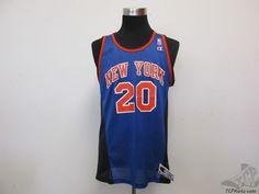 Vtg 90s Champion New York Knicks Allan Houston #20 Basketball Jersey sz 44 NBA #Champion #NewYorkKnicks #tcpkickz
