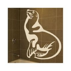 "Style and Apply Seal Wall Decal Size: 66"" H x 46"" W, Color: Dark Red"