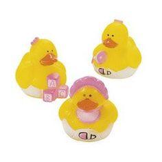 Baby Girl Rubber Ducks   12 ct