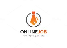 Online Job Logo by XpertgraphicD on @creativemarket