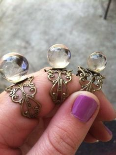 Crystal Ball rings by Childofthemoon Design ✭⋆▲ᎢᎻᏋ ᏟᏒᎩᏕᎢᎪᏞ ᎮᎽᏒᎪᎷᏐᎠ ▲⋆✭