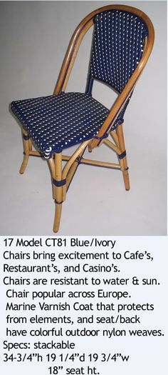 French Bistro Blue with Ivory