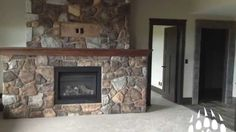 Cut Fieldstone (Color: Quarry) Fireplace manufactured stone by Kodiak Mountain Stone Manufactured Stone Veneer, Bathtub Surround, Interior And Exterior, Interior Design, Stone Cuts, Stone Work, Calgary, Natural Stones, Brick