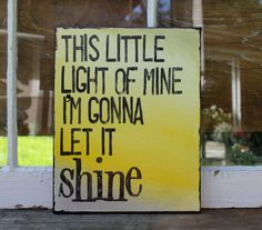 11x14 This little light of mine...  canvas ombre quote by Houseof3