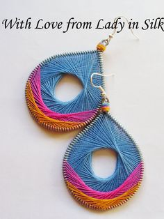 TOTAL SALE Summer Dream Peruvian Thread Earrings. $15.90, via Etsy.