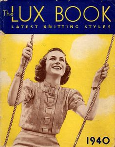 1940 Lux Book Vintage Knitting Patterns for by BessieAndMaive, $18.00