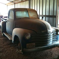 hidden barn gem! Old Chevy Truck