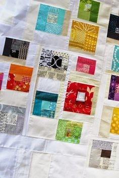 I have another scrap project in the works. Ever since I made my first tickertape quilt  (pattern in Sunday Morning Quilts ), I've saved eve...