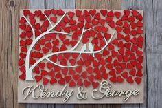 Guest Book matrimonio 3D personalizzati Personalized Wedding