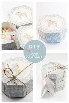 Geschenkbox zum Ausdrucken via http://dans-mon-bocal.over-blog.com/