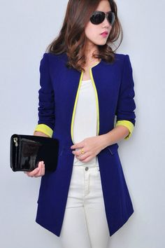 Blazer blue largo