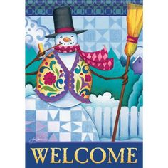 Garden Size Flag Classic Snowman 13 X 18 Inches *** Check out this great product.