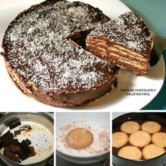 tarta de chocolate y galletas facil