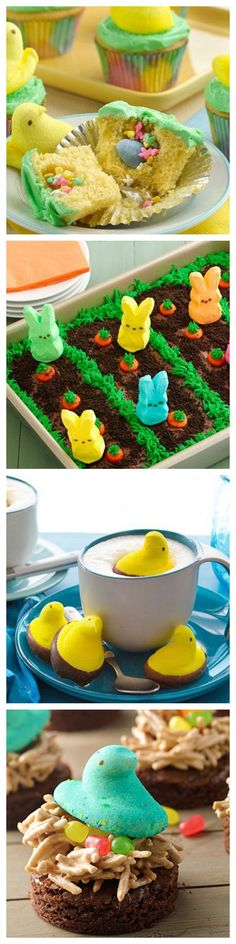 6 Peeps Treats To Make You Feel Like a  Kid Again! These delicious treats are not only so fun to make but fun to eat :) Try them this upcoming Easter Sunday!