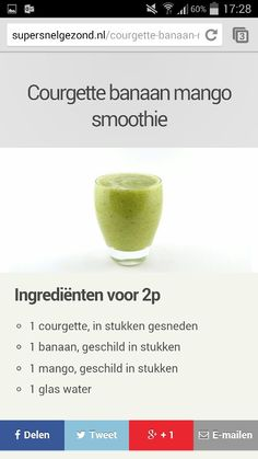 Groene smoothie courgette
