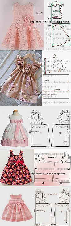 ¡Cosemos a sus hijos! Little girls dresses - Pattern with measurements in cm A selection of children& models . Different frock patterns Discover recipes, home ideas, style inspiration and other ideas to try.sews on patterns - Baby Dress You deserve Little Dresses, Little Girl Dresses, Girls Dresses, Baby Dresses, Dresses Dresses, Fashion Kids, Sewing Clothes, Diy Clothes, Dress Sewing