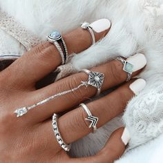 Gorgeous 6 Items Opal Silver Ring Set bought through KoKo Style. Store extra merchandise from KoKo Style on Storenvy, the house of unbiased small companies all over the place the sector.