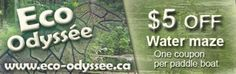Eco Odyssee coupon - $5 OFF Water Maze Ontario Attractions, Paddle Boat, Enjoy Your Vacation, Maze, Coupons, Things To Do, Places To Visit, Things To Make, Labyrinths