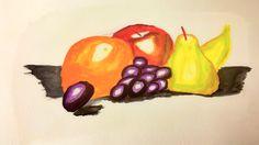 Natürmort sulu boya watercolor