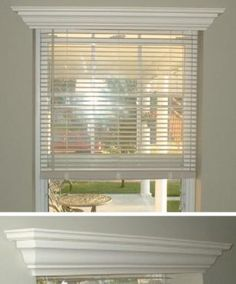 window molding | Hide * A * Blind Wood Crown Molding Valance