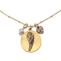 Sequin Elephant Charm Talisman Necklace JWgga1BLpJ