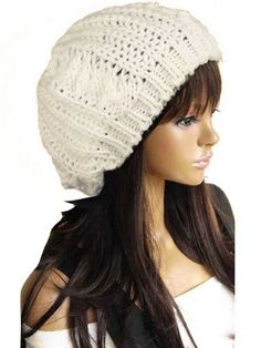 New Winter fashion Women Beret Braided Baggy Beanie Crochet Knitted Hat Cap  Reviews - http  8772f234deac
