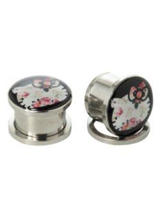 Hello Kitty Steel Floral Spool Plug 2 Pack