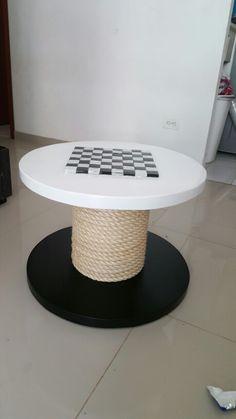 Mesa ajedrez con fique natural