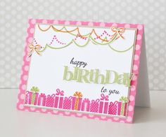 papertreyink background basics birthday fun catds | ... card i love the little pop of color it adds to the bottom of the card