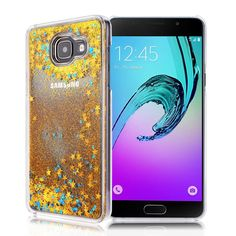 GrandEver Hard PC Rigid Cover for Samsung Galaxy A5 2016 A510 Glitter Quicksand Backcover Luxury Sparkle Bling Star Glitter Yellow Flowing Sand Design Transparent Clear Back Bumper Protective Shell for Samsung Galaxy A510: Amazon.co.uk: Kitchen & Home