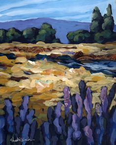 Fall Creek Original Painting by ShelliWalters