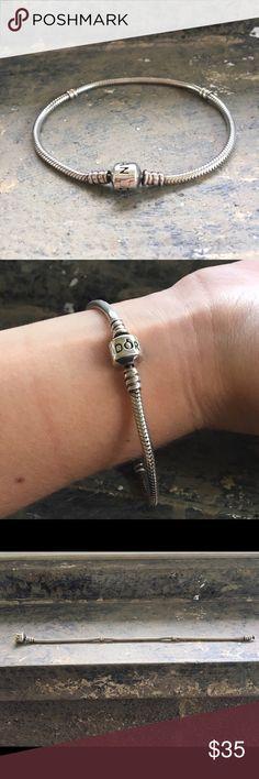Pandora Bracelet This bracelet is 8 inches, gently used, and freshly polished. Jewelry Bracelets