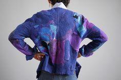 Ninas Fiber Arts - Clothing: Coats & Jackets - One of a kind, hand made felted clothing, interior accents, felted birds, nuno felt