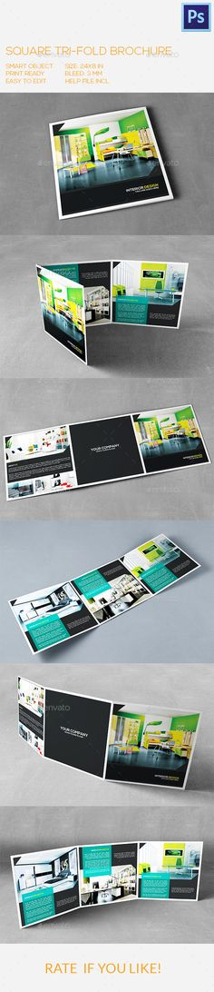 Square Interior Trifold Brochure Template #print Download: http://graphicriver.net/item/square-interior-trifold-brochure/9999828?ref=ksioks