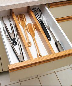 Another great find on #zulily! Kitchen Drawer Divider - Set of Two #zulilyfinds