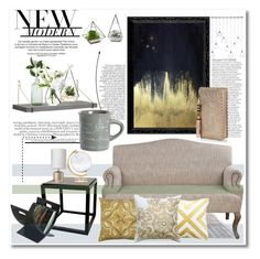 """Modern"" by anja-pixie-jovanovic ❤ liked on Polyvore featuring interior, interiors, interior design, home, home decor, interior decorating, Universal Lighting and Decor, CB2, Oliver Gal Artist Co. and Imperfect Design"