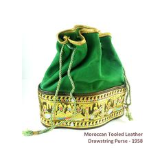 Fancy 1950s  Purse  Moroccan Tooled Leather by Gatewaytovintage, $22.95