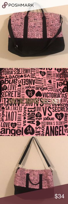 Victoria secret workout bag! Perfect for weekend travel or gym workouts! Victoria's Secret Bags Travel Bags