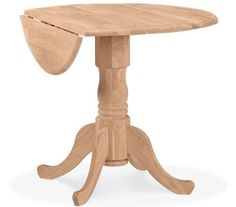 International Concepts T-36DP 36-Inch Dual Drop Leaf Table, Unfinished - The Home Builders