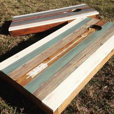 Custom cornhole boards #woodworking #opendoordesigns #opendoorinterests #reclaimedwood#customwoodworking