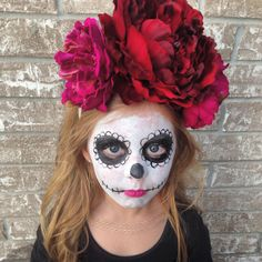Children's Day of the Dead costume. Dia de Los Muertos | Sugar Skull. Kids Halloween costumes