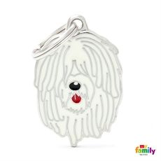 Show details for Komondor Dog Tag Free incision www.myfamily.it