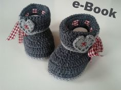 Love this traditional austrian style chrochet baby shoe