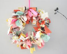 cute, alternative christmas wreath