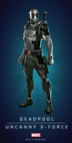 Deadpool  -  #Deadpool ... (Deadpool Marvel Puzzle Quest! Deadpool Uncanny X-Force Enforcer #3 Blue Poster) By: Demiurge Studios. ÅWESOMENESS!!!™ ÅÅÅ+ ...°° - visit to grab an unforgettable cool 3D Super Hero T-Shirt!