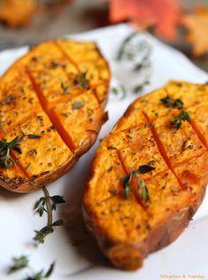 Batatas al horno - Comida Postres Ideas Sweet Potato Recipes, Veggie Recipes, Vegetarian Recipes, Chicken Recipes, Healthy Recipes, Healthy Chicken, No Cook Meals, Easy Dinner Recipes, Snacks