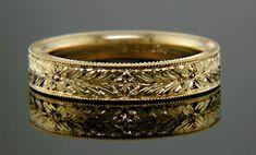golden laurels wedding band