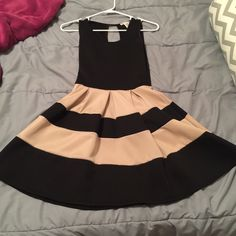 Black and tan dress Great condition, only worn twice a'gaci Dresses Midi
