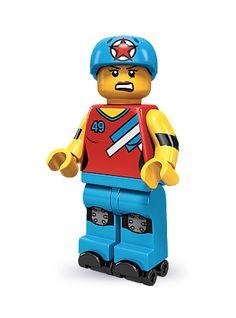 Roller girl LEGO minifig!